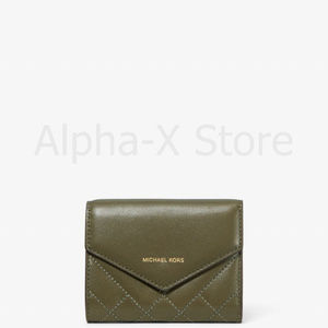 NWT Michael Kors Small Quilted Leather Envelope Wa